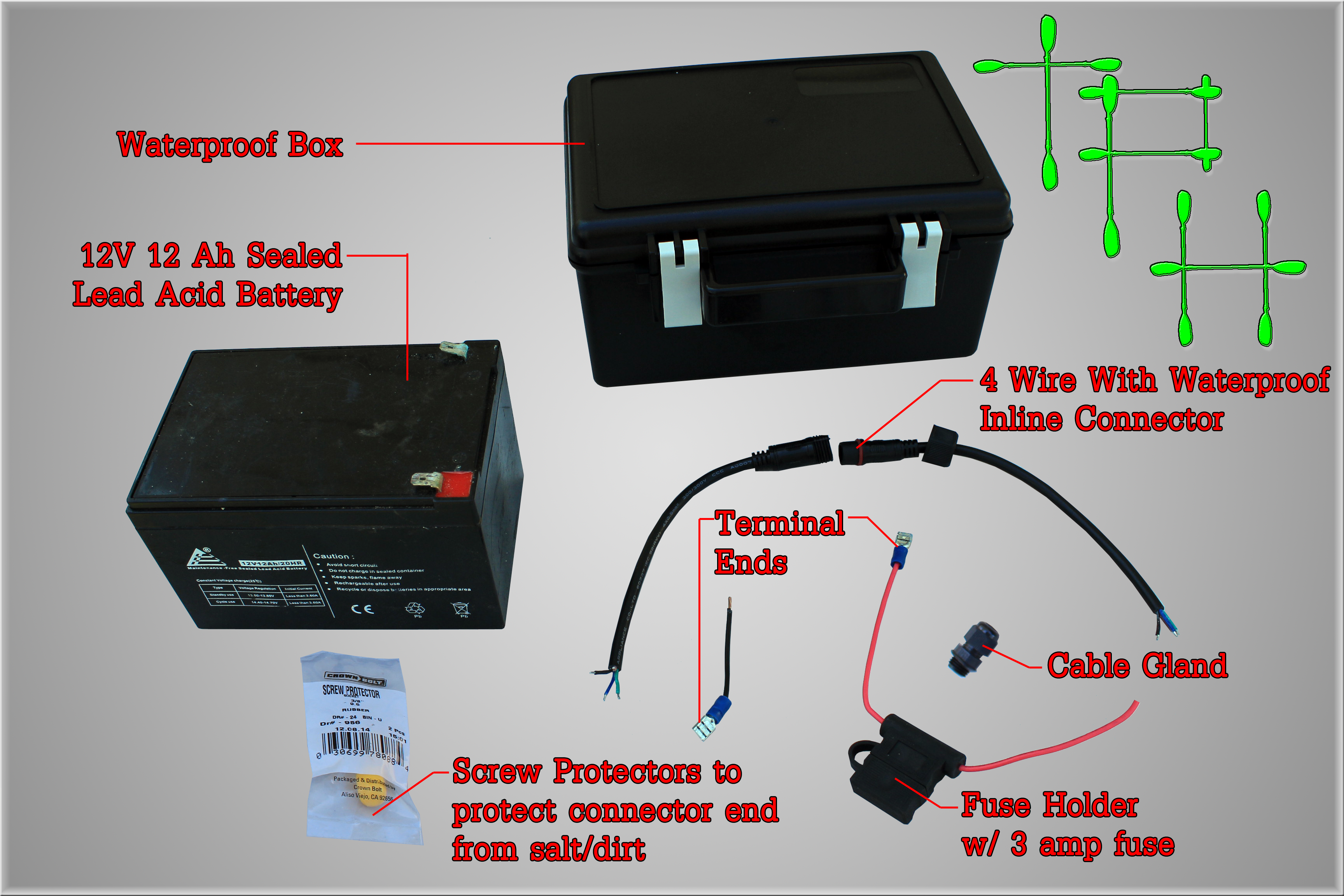 Watertight Fuse Box Not Lossing Wiring Diagram How To Diy Waterproof Battery The Plastic Hull Small Boxes Large